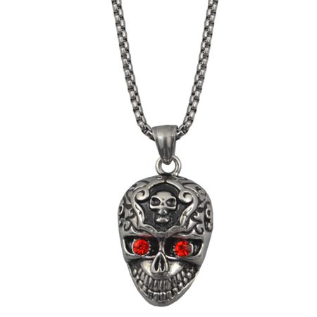 Kette Halskette Totenkopf Red Death MC 1%