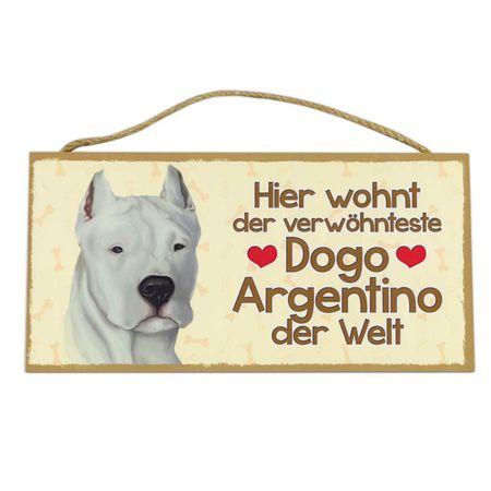 Holzschild Dogo Argentino