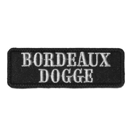 Wechselbarer Patch Bordeaux Dogge