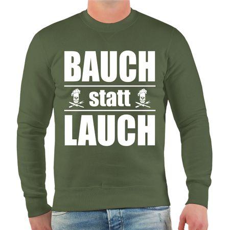 Männer Sweatshirt Bauch statt Lauch
