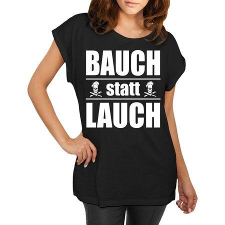 Frauen lässiges Shirt Bauch statt Lauch