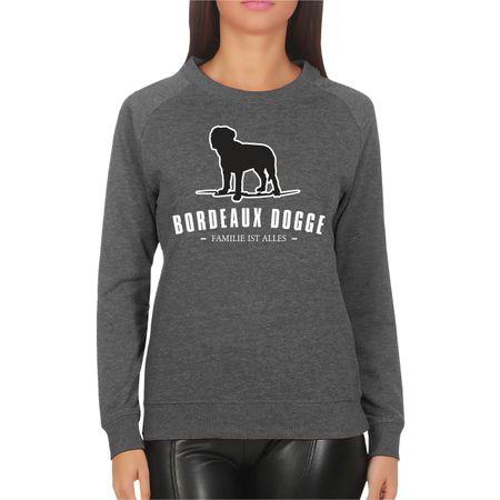Frauen Sweatshirt Bordeaux Dogge - Familie ist alles