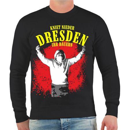 Männer Sweatshirt Dresden Kniet nieder ihr Bauern