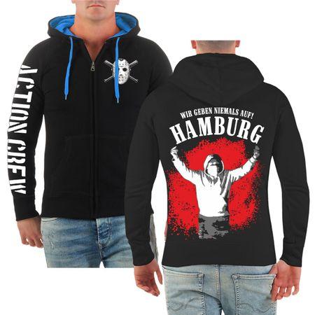 Männer Kapuzenjacke Hamburg - Wir geben niemals auf