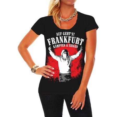 Frauen Shirt Auf geht's Frankfurt - kämpfen & siegen