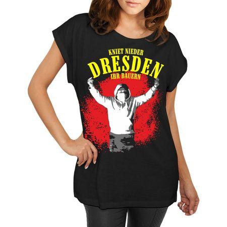 Frauen lässiges Shirt Dresden Kniet nieder ihr Bauern