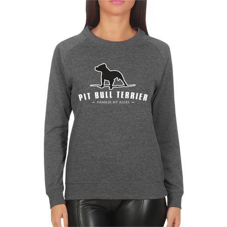 Frauen Sweatshirt Pit Bull Terrier - Familie ist alles