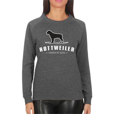Frauen Sweatshirt Rottweiler - Familie ist alles