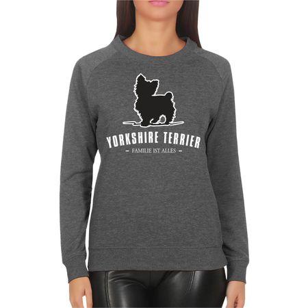 Frauen Sweatshirt Yorkshire Terrier - Familie ist alles