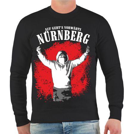 Männer Sweatshirt Nürnberg Auf geht's vorwärts
