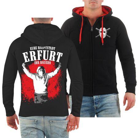 Männer Kapuzenjacke Erfurt Eure Hauptstadt ihr Bauern