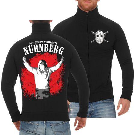 Männer Sweatjacke Nürnberg Auf geht's vorwärts