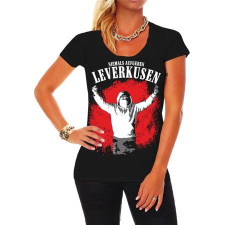 Frauen Shirt Leverkusen Niemals aufgeben