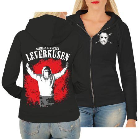 Frauen Kapujacke Leverkusen Niemals aufgeben