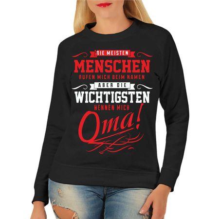 Frauen Sweatshirt Die wichtigsten nennen mich OMA