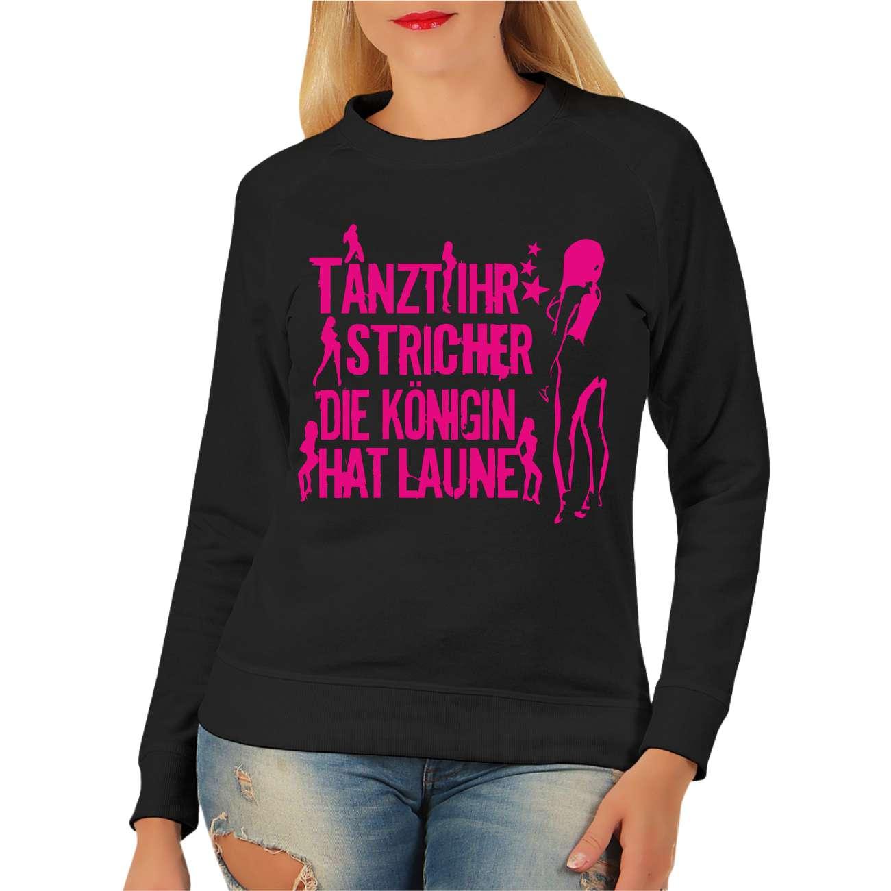 abed0cc314c9 Frauen Sweatshirt Tanzt ihr Stricher PINK 001
