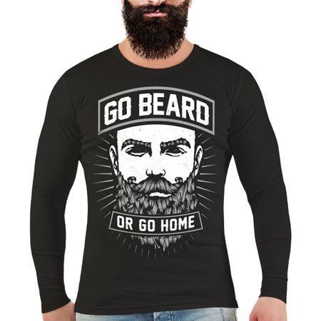 Männer Longsleeve Go Beard Or Go Home