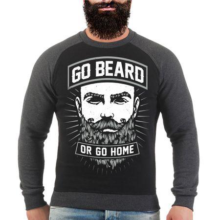 Männer Sweatshirt Go Beard Or Go Home