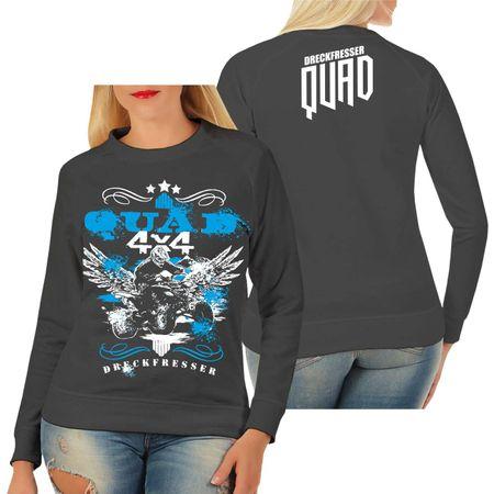 Frauen Sweatshirt Dreckfresser QUAD