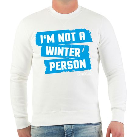 Männer Sweatshirt I'm not a winter person