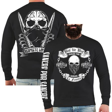 Männer Sweatshirt La Familia Blut für Blut