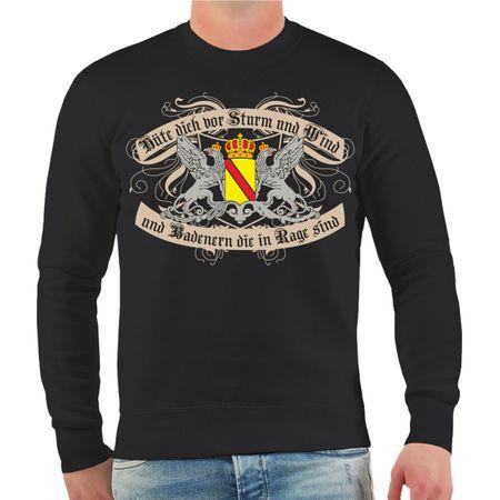 Männer Sweatshirt Hüte dich Badener
