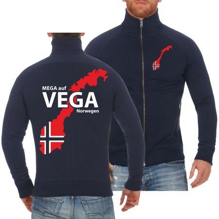 Männer Sweatjacke Norwegen Angelurlaub
