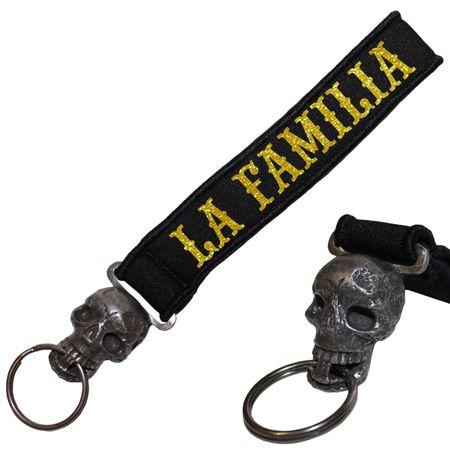 Schädel Neopren Schlüsselanhänger La Familia