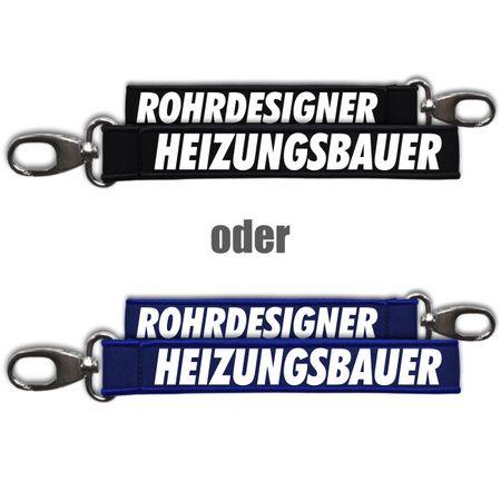 Neopren Schlüsselanhänger Heizungsbauer