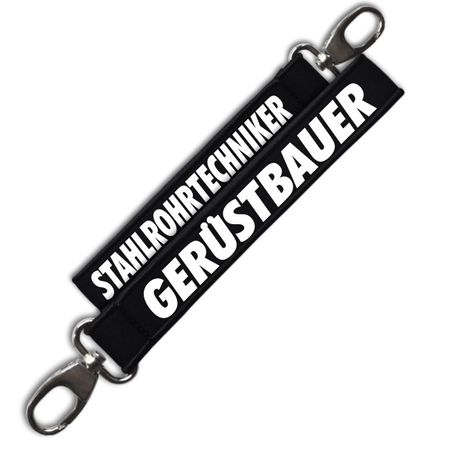 Neopren Schlüsselanhänger Gerüstbauer