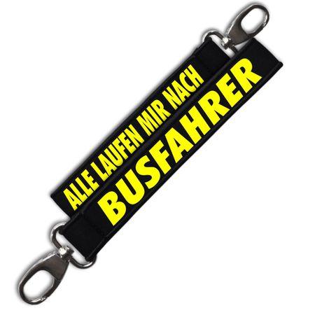 Neopren Schlüsselanhänger Busfahrer