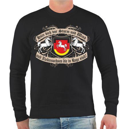 Männer Sweatshirt Hüte dich Niedersachsen