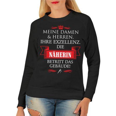 Frauen Sweatshirt Ihre Exzellenz DIE NÄHERIN