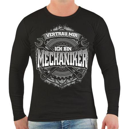 Männer Longsleeve Vertrau mir ich bin Mechaniker