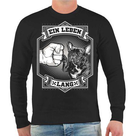 Männer Sweatshirt Französische Bulldogge - Ein Leben lang
