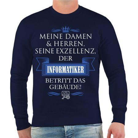 Männer Sweatshirt Seine Exzellenz DER INFORMATIKER