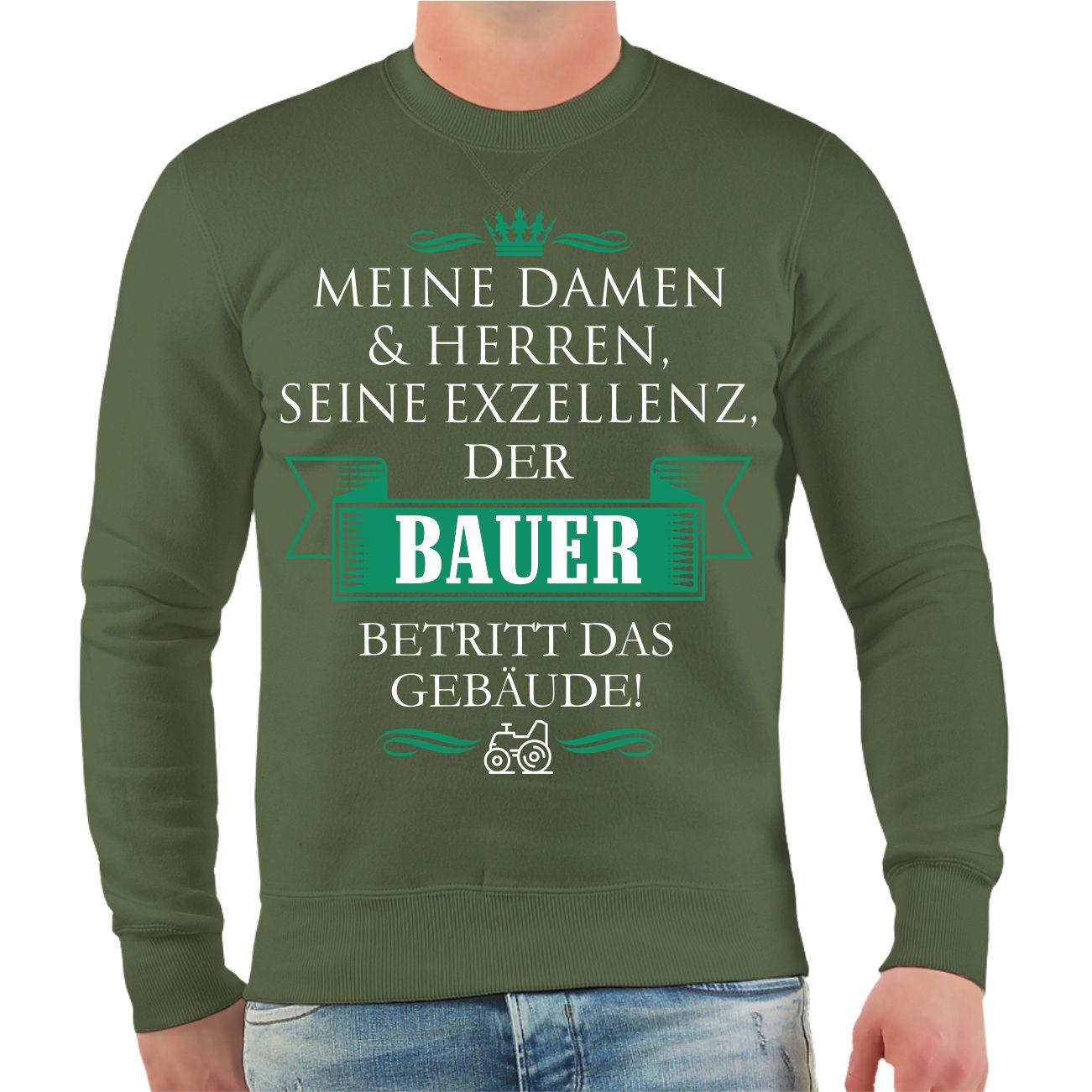 quality design 9a937 f8e0e Spruch Geschenk Sweatshirt Fun Bauer Agrar Der Pullover ...