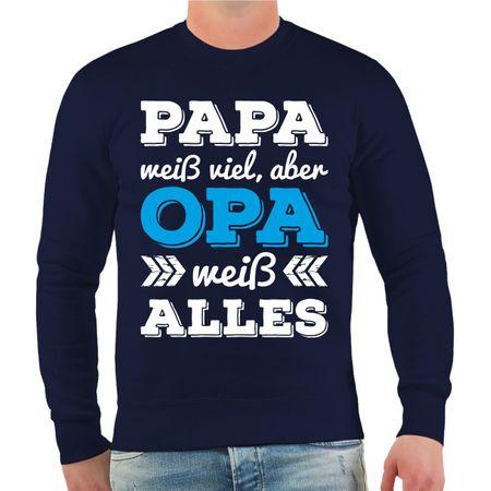 Männer Sweatshirt Opa weiß alles