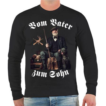 Männer Sweatshirt Jäger Vom Vater zum Sohn