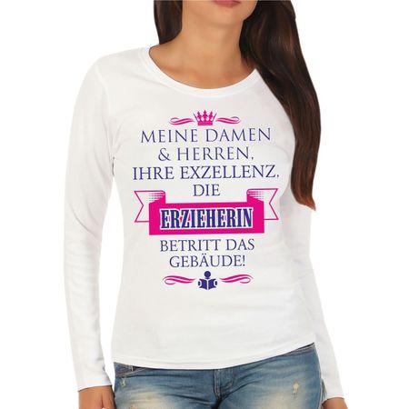 Frauen Longsleeve Ihre Exzellenz DIE ERZIEHERIN