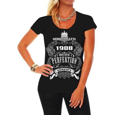 Frauen Shirt Bis zur Perfektion gereift 1988