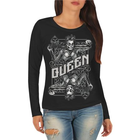 Frauen Longsleeve Bad Queen