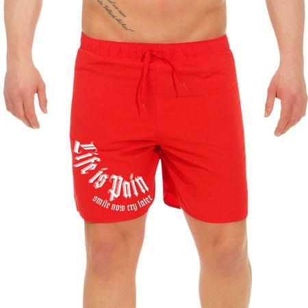 Männer Badehose Short Life is Pain