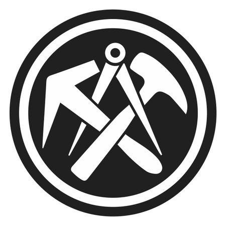 Aufkleber Dachdecker Wappen