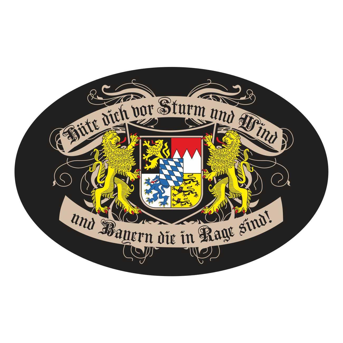 Details Zu Aufkleber Wetterfest Bayern In Rage Freistaat Bairisch Auto Aussen Bavaria