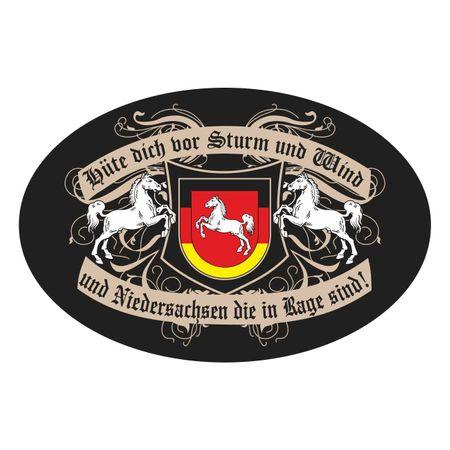 Aufkleber Hüte dich Niedersachsen