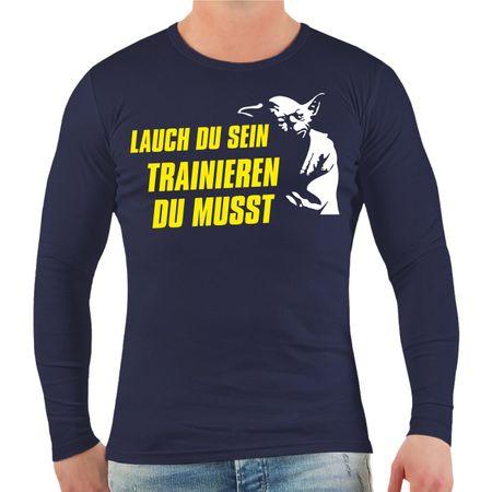 Männer Longsleeve Lauch du sein - Trainieren du musst