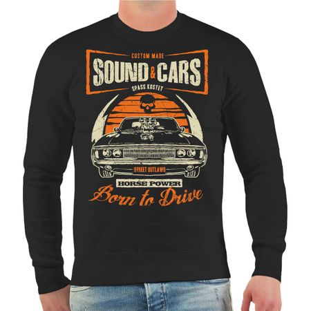 Männer Sweatshirt Sound & Cars Horse Power