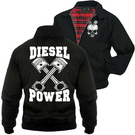 Männer Harrington Jacke Diesel Power