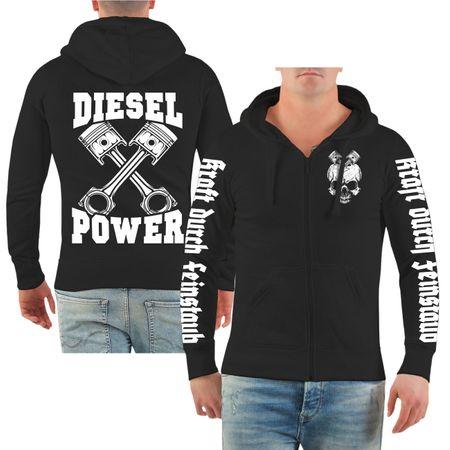Männer Kapuzenjacke Diesel Power